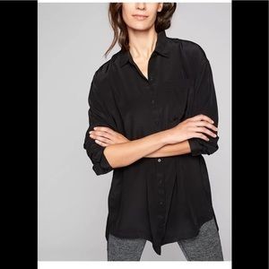 NWT Athleta XXS washable Silk Button Down Tunic